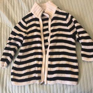 Lane Bryant Black Striped Sweater
